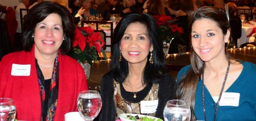 From left, Gloria Slama, Assistance League of Indianapolis President-elect, and First Lady of Indianapolis Winnie Ballard enjoy the Holiday Luncheon and Style Show at the Ritz Charles in Carmel Dec. 5. (Submitted photo)