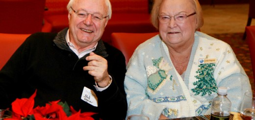 Barrington residents Fred and Linda Regnier enjoy the holiday party at The Barrington. (Submitted photo)