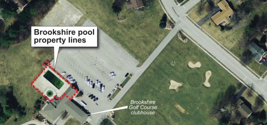 The Brookshire pool is entirely surrounded by the city-owned Brookshire Golf Course. (Submitted photo)