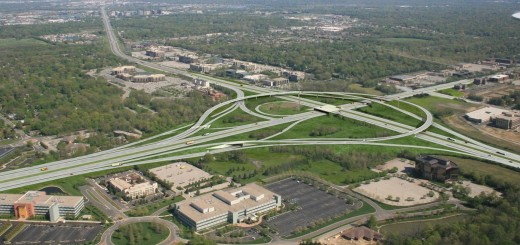This rendering gives an approximate representation of the new fly-over exit ramps that will carry traffic between U.S. 31 and I-465 once construction is complete by the end of 2014. Note: South exit ramps to U.S. 31 missing. (Submitted rendering)