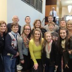 """Joseph"" cast member Lauren Madden, center, with family members, front row from left, Lori Elsbury, Joyce Robinson, Emily Greene, Lauren Madden, Sarah Greene and Avery Biggs, and back row from left, Jim Robinson, Kellan Elsbury, Lisa Greene, Austin Madden, Hayden Elsbury, Nolan Elsbury, Logan Greene and Terri Madden. (Staff photos by Tonya Burton.)"