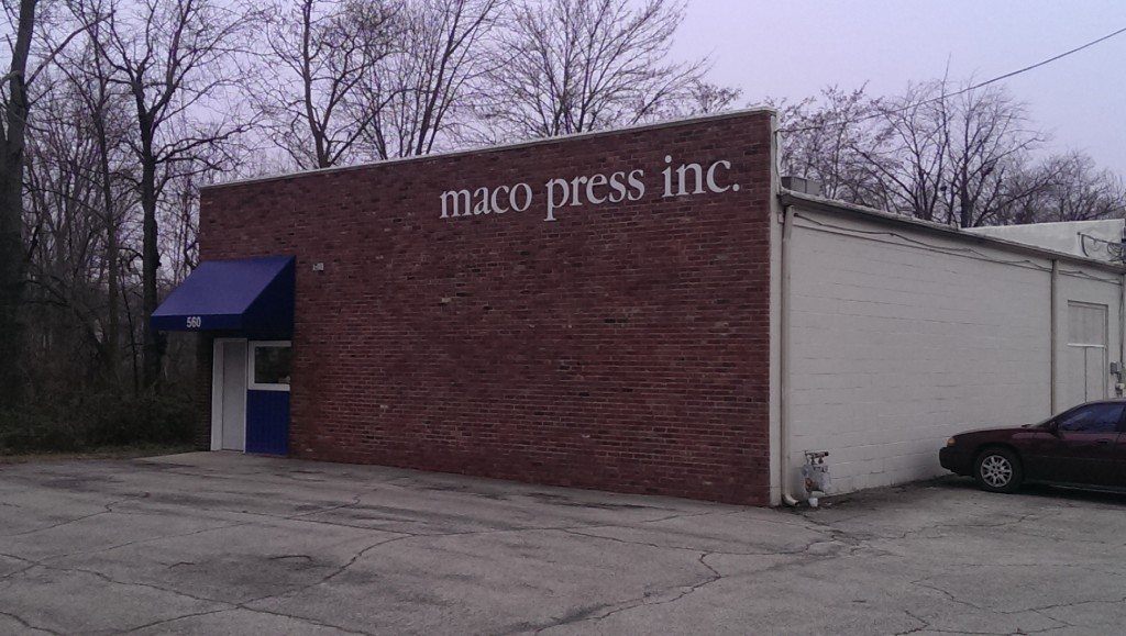 Maco Press is across 3rd Ave. SW for the old Wood's Wire Factory in Carmel. (Staff photo)