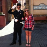 "A friendly policeman in Little France offered to take a photo with me, the ""precious lady."""