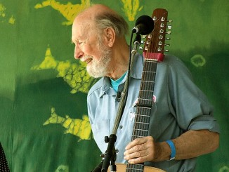 Pete Seeger at age 88 photographed on 6-16-07 at the Clearwater Festival 2007 by Anthony Pepitone