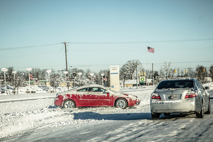 Last week's winter storm blanketed central Indiana with more than a foot of snow. Subzero tempatures were also a major concern for those at risk for frost bite. (Photo by Brian Brosmer)