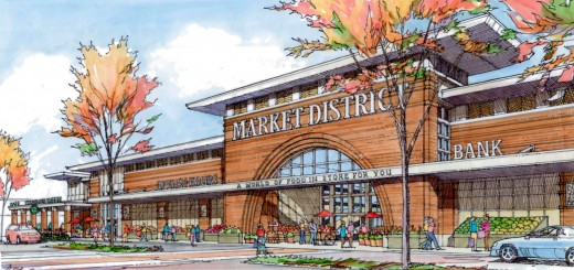 A new Market District grocery store will be built southeast of the intersection of 116th Street and Spring Mill Road. (Submitted rendering)
