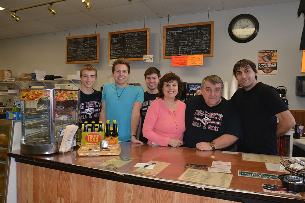 From left, Zach Stiles, Chris Lohss, Aus- tin Fair, Dooreen Supan, Big Dave Chap- man and Martin Klekovski enjoy what they do for the customers they serve. (Photo by Dawn Pearson)