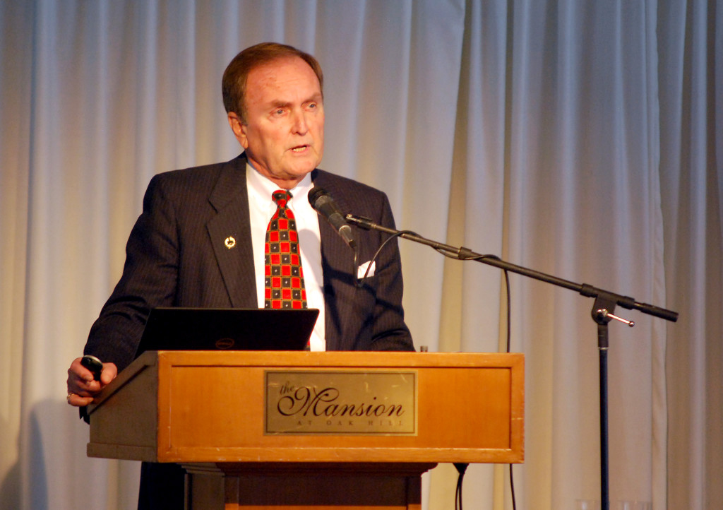 """Hamilton County Commissioner Steve Dillinger talks about new advances in public safety during his annual """"State of the County"""" address. (Photo by Robert Herrington)"""
