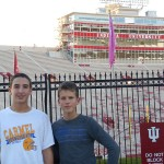 Carmel High School student Andrew Inman, left, and German student Jochen Schade took a visit to Indiana University in Bloomington. (Submitted photos by Monica Inman.)