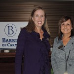 The Barrington of Carmel's Dana Shore and Jennifer Voss attended the Taste of the Chamber event. (Staff photo by Tonya Burton)