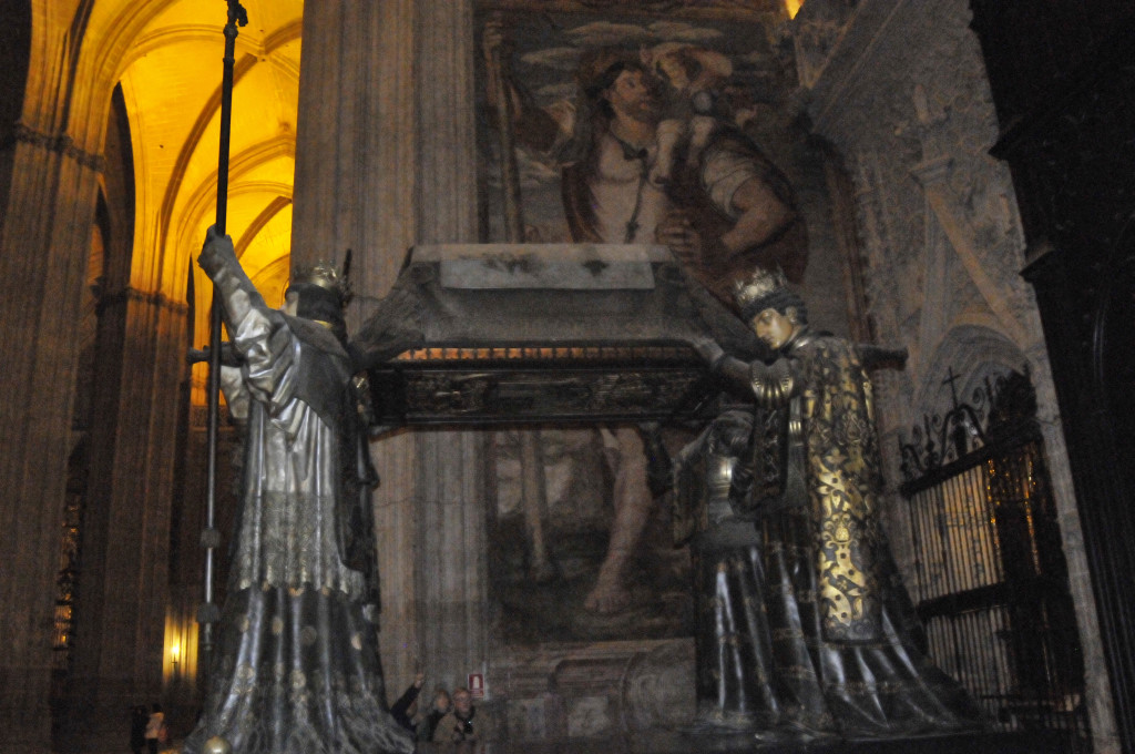 Tomb of Christopher Columbus in Seville Cathedral (photo by Don Knebel)