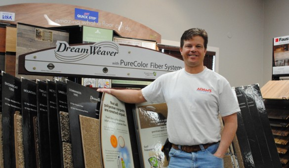 Adam Nisley plans to have a grand opening for Adam's Flooring on March 1 (Staff photo)