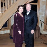 From right, Jon Goble, CEO of IU Health North Central Region, and his wife Theresa Goble of Carmel attended a gala held at the Lucas Estate. (Staff photo by Tonya Burton)