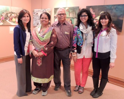 From left, Saima Hassan, Afshan Khan, Anwar Khan, Arishaa Khan and Fatima Hussain of OBAT Helpers are hosting a photo exhibit at St. Luke's United Methodist Church in Indianapolis to highlight the plight of the Bihari people of Bangladesh. (submitted photo)