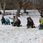University High School's Pottermania team playing Quidditch with the Midnight Snipes - IU's Quidditch team during this year's J-Term. (Submitted photo)