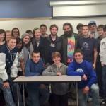 """Survivor"" star Rupert Bonham was a guest speaker during University High School's J-Term Survivalists Class. (Submitted photo)"