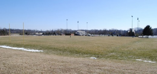 The two practice fields north of the Carmel High School football stadium, the stadium field and the adjoining Murray Field soccer stadium will all get new synthetic field turf before the fall sports season begins. (Staff photo)
