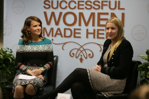 Indy 500 driver Pippa Mann, right, talks about what it takes to succeed and build a community of peers. (Submitted photo)