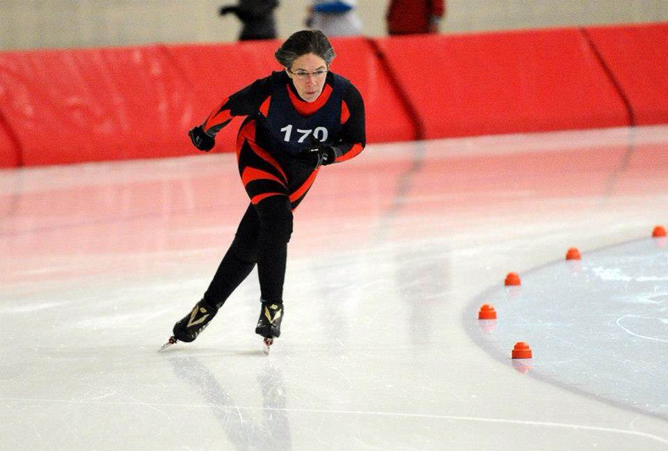Carmel resident Robin Wachtel found her competitive spirit through speed skating. (Submitted photo by Stephen Penland)