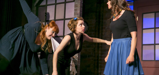 The Second City cast from left: Emily Walker, Nicole Hastings and Sarah Shook (Photo by Todd Rosenberg)