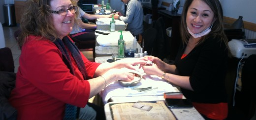 """Owner Brigitte """"Von"""" Dan works on her client's nails. Mia Nail Spa does not use any hard chemicals such as acetone. (photo by Colin Henry)"""