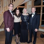 From left, Dr. Sheldon Weiss, Debbie Weiss, Heather Carpenter and Indy Car driver Ed Carpenter, all of Carmel, attended a gala held at the Lucas Estate. (Staff photo by Tonya Burton)