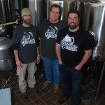 Pictured are, from left, Brew Master Luke Kazmierski, Charlie Wood and Jon Knight. Grand Junction Brewing Co. has a seven-barrel system that produces 31 gallons per barrel.