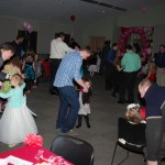 "Fathers and daughters dance to The Lumineers' ""Ho Hey"" on Feb. 6."