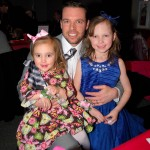 Mark Duquaine enjoyed the evening with his daughters Leah, left, and Hannah.