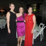 From left, Joy Davis, Andrea Grgic and Tracy Miller from IU Health organized the gala held at the Lucas Estate. (Staff photo by Tonya Burton)