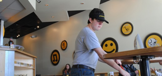 Nick Wimmer has found success at his job as Which Wich sandwich shop in Carmel.