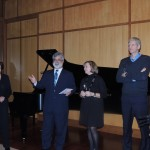rom left, Kim Thomas and David Honig, Co-Chairs of the American Pianists Association event, and Benedicte Hardy and Laurent Drouhin of France. (Staff photo)