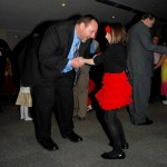 Mike and Madelyn Poynter have a laugh as they dance on Feb. 6.