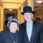 George and Charlene Rupp of Carmel dressed in costume for the evening (Staff photo)