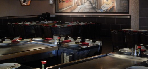 The chic and urban interior of Hino Oishi restaurant was created by a New York designer. (Staff photo)