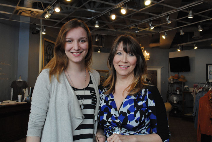 Mary & Martha's Exceedingly Chic Boutique manager Lillian Bernard, left, and owner Laura Shattuck plan to relocate their boutique to Zionsville later this spring. (Staff photo)