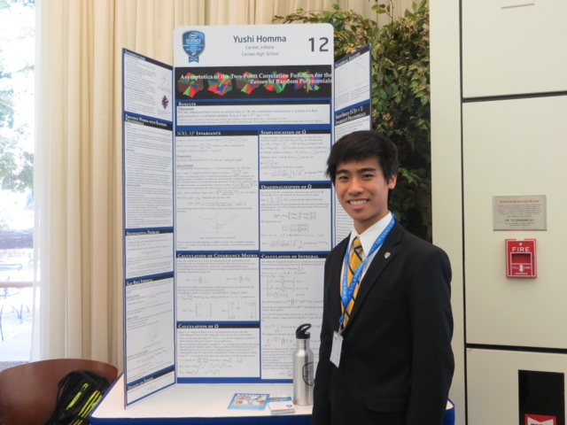 Carmel High School senior Yushi Homma was a finalist in the national Intel Science Talent Search for his original research into polynomials and their coefficients. (Submitted photo)