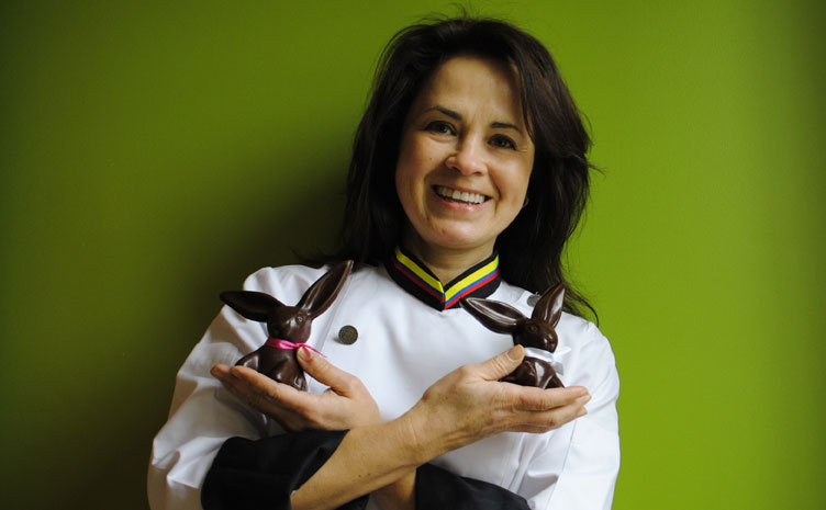 Carmel artisan Joann Hofer will sell her handmade chocolate at the Artisan Marketplace at the State Fairgrounds on March 29 and March 30. (Staff photo)