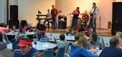 "Attendees enjoy the food and music at the Holy Spirit Parish at Geist fish fry, March 21st"" (photos by John Cinnamon)"