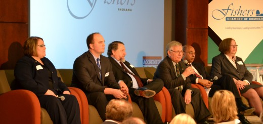 Fishers mayoral candidates appear at Chamber of Commerce forum (photo by John Cinnamon)