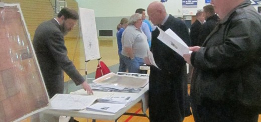 A public open house was held at HSEHS March 25 for residents to give feedback for the enhanced train station plaza. Approximately 60 were in at- tendance. (Photo by Nancy Edwards.)