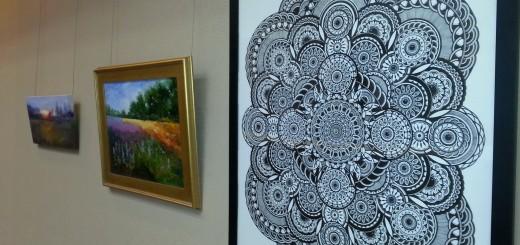 Artwork at Conner Prairie exhibit