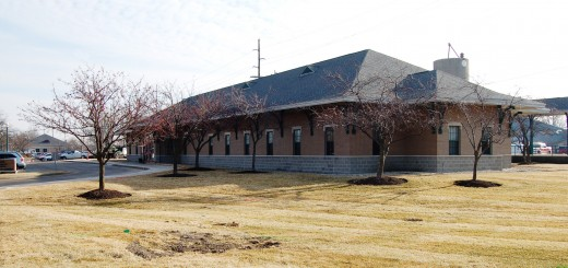Train station in Fishers is being demolished and only the plat- form will re- main to make room for The Switch mixed- use building. (Submitted photo)