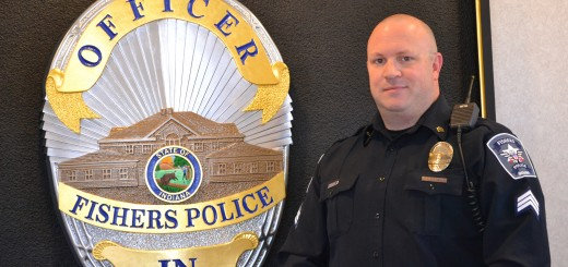 Fishers Police Dept. Sgt. Troy Fettinger saved the life of a 12-year-old boy who collapsed while playing basketball at Fishers Junior High on Feb. 22. (Photo by Ann Craig-Cinnamon)