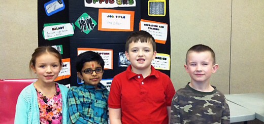 Makayla Kingdon, Keshav Patel, Matthew Williams and Preston Gilcrest are second-graders in Karen Grogan's class at Maple Glen Elementary School, 17171 Ditch Rd.