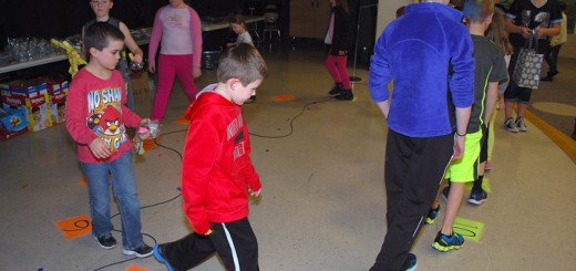 The cake walk was one of many games and activities for students at the Carey Ridge Winter Carnival.