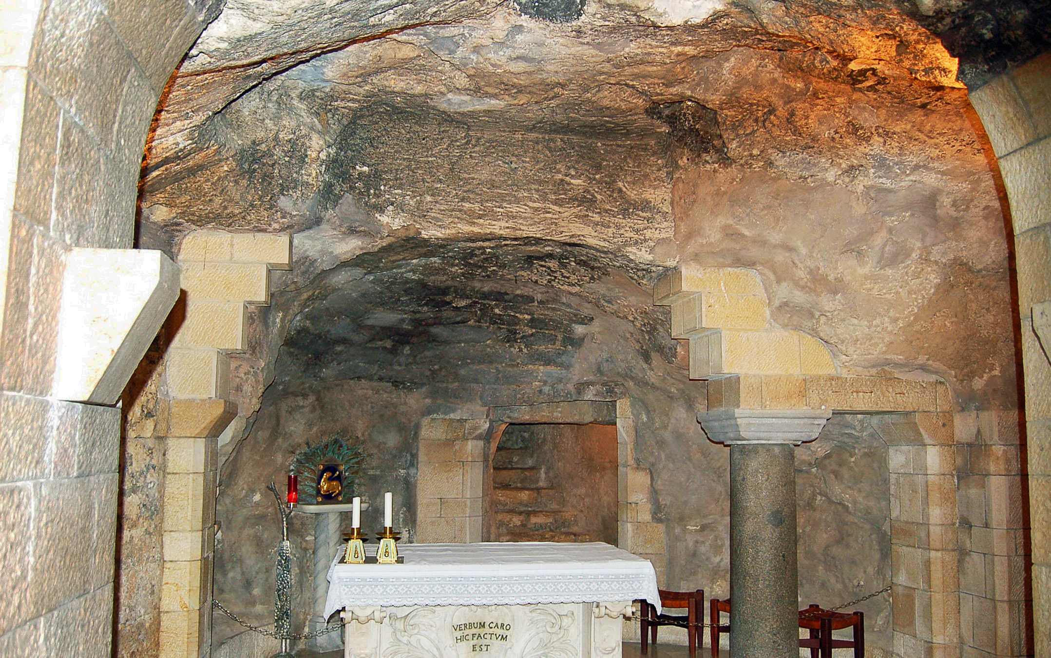 Cave beneath Basilica of the Annunciation (Photo by Don Knebel)