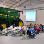 Hamilton County second grade students were able to see and touch various animals and agriculture equipment during Ag Day.
