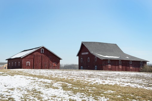 The Pittman Farms barn sits at the corner of Sycamore and Michigan Road. (Staff photo by Theresa Skutt)