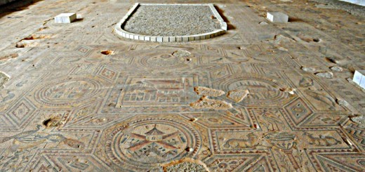 Church Floor at Taybet al Imam, Syria (Photo by Don Knebel)